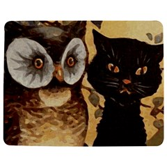 Owl And Black Cat Jigsaw Puzzle Photo Stand (Rectangular)