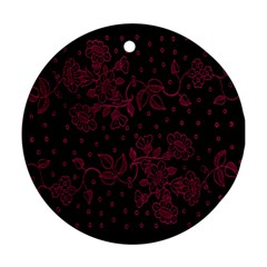 Pink Floral Pattern Background Wallpaper Ornament (Round)