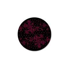Pink Floral Pattern Background Wallpaper Golf Ball Marker (4 Pack)