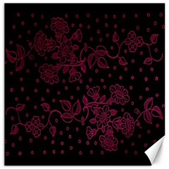Pink Floral Pattern Background Wallpaper Canvas 16  x 16
