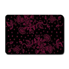 Pink Floral Pattern Background Wallpaper Small Doormat