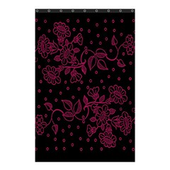 Pink Floral Pattern Background Wallpaper Shower Curtain 48  x 72  (Small)