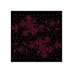 Pink Floral Pattern Background Wallpaper Acrylic Tangram Puzzle (4  x 4 )