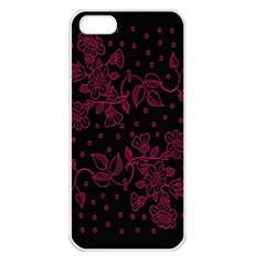 Pink Floral Pattern Background Wallpaper Apple Iphone 5 Seamless Case (white)