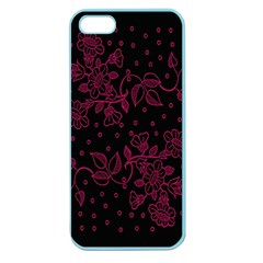 Pink Floral Pattern Background Wallpaper Apple Seamless iPhone 5 Case (Color)