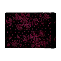 Pink Floral Pattern Background Wallpaper Apple Ipad Mini Flip Case
