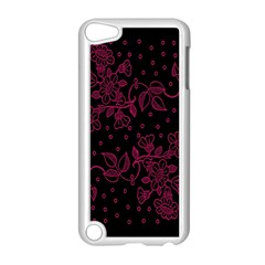 Pink Floral Pattern Background Wallpaper Apple Ipod Touch 5 Case (white)