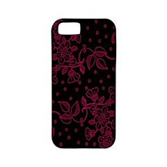 Pink Floral Pattern Background Wallpaper Apple iPhone 5 Classic Hardshell Case (PC+Silicone)