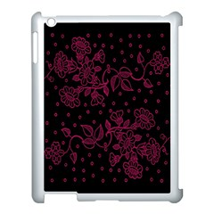Pink Floral Pattern Background Wallpaper Apple Ipad 3/4 Case (white)