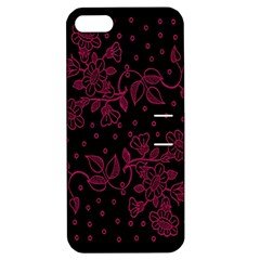 Pink Floral Pattern Background Wallpaper Apple iPhone 5 Hardshell Case with Stand