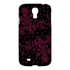 Pink Floral Pattern Background Wallpaper Samsung Galaxy S4 I9500/I9505 Hardshell Case