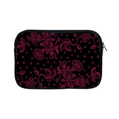 Pink Floral Pattern Background Wallpaper Apple Ipad Mini Zipper Cases