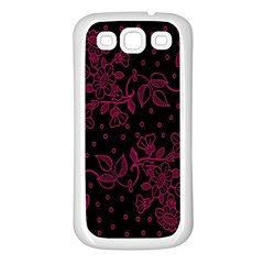Pink Floral Pattern Background Wallpaper Samsung Galaxy S3 Back Case (White)
