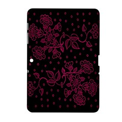 Pink Floral Pattern Background Wallpaper Samsung Galaxy Tab 2 (10.1 ) P5100 Hardshell Case