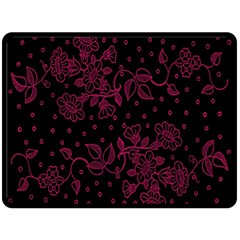 Pink Floral Pattern Background Wallpaper Double Sided Fleece Blanket (large)