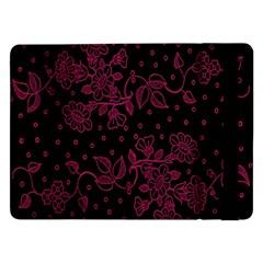 Pink Floral Pattern Background Wallpaper Samsung Galaxy Tab Pro 12.2  Flip Case
