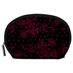 Pink Floral Pattern Background Wallpaper Accessory Pouches (Large)