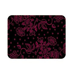 Pink Floral Pattern Background Wallpaper Double Sided Flano Blanket (Mini)