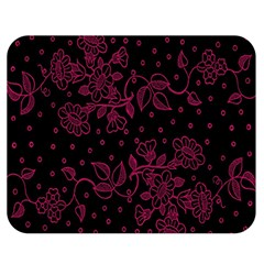 Pink Floral Pattern Background Wallpaper Double Sided Flano Blanket (medium)