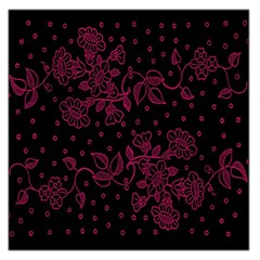 Pink Floral Pattern Background Wallpaper Large Satin Scarf (square)