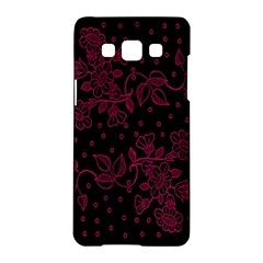 Pink Floral Pattern Background Wallpaper Samsung Galaxy A5 Hardshell Case