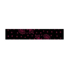 Pink Floral Pattern Background Wallpaper Flano Scarf (Mini)