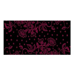Pink Floral Pattern Background Wallpaper Satin Shawl