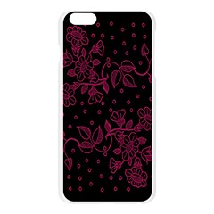 Pink Floral Pattern Background Wallpaper Apple Seamless iPhone 6 Plus/6S Plus Case (Transparent)