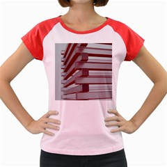 Red Sunglasses Art Abstract Women s Cap Sleeve T-Shirt
