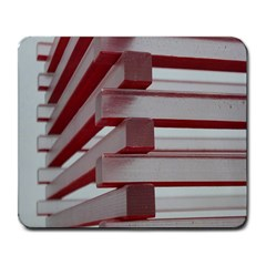 Red Sunglasses Art Abstract Large Mousepads