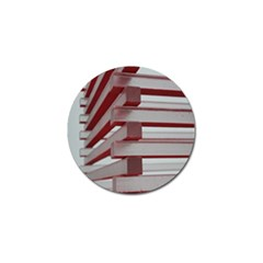 Red Sunglasses Art Abstract Golf Ball Marker (4 pack)