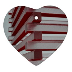 Red Sunglasses Art Abstract Heart Ornament (Two Sides)