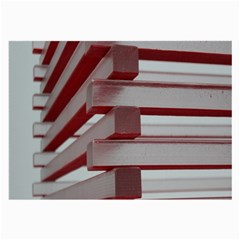 Red Sunglasses Art Abstract Large Glasses Cloth (2-Side)