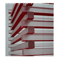 Red Sunglasses Art Abstract Shower Curtain 66  x 72  (Large)