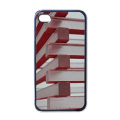 Red Sunglasses Art Abstract Apple iPhone 4 Case (Black)