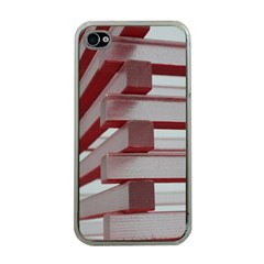 Red Sunglasses Art Abstract Apple iPhone 4 Case (Clear)