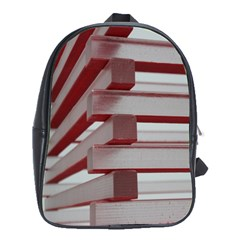 Red Sunglasses Art Abstract School Bags (XL)