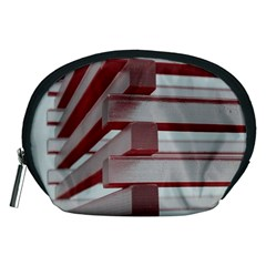 Red Sunglasses Art Abstract Accessory Pouches (Medium)