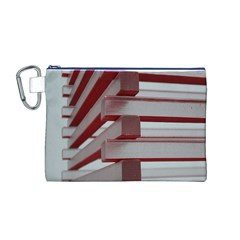 Red Sunglasses Art Abstract Canvas Cosmetic Bag (m)