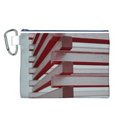 Red Sunglasses Art Abstract Canvas Cosmetic Bag (L)