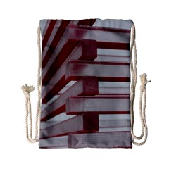 Red Sunglasses Art Abstract Drawstring Bag (Small)