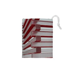 Red Sunglasses Art Abstract Drawstring Pouches (XS)