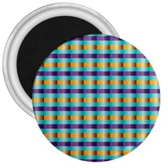 Pattern Grid Squares Texture 3  Magnets