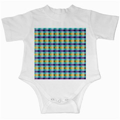 Pattern Grid Squares Texture Infant Creepers