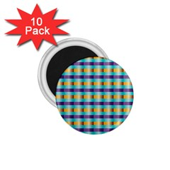 Pattern Grid Squares Texture 1.75  Magnets (10 pack)