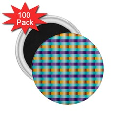 Pattern Grid Squares Texture 2.25  Magnets (100 pack)