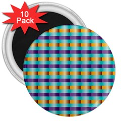 Pattern Grid Squares Texture 3  Magnets (10 pack)
