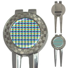 Pattern Grid Squares Texture 3-in-1 Golf Divots