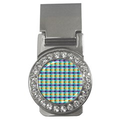 Pattern Grid Squares Texture Money Clips (CZ)