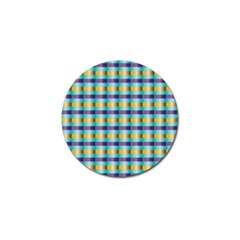 Pattern Grid Squares Texture Golf Ball Marker (4 pack)